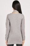 Colour Block Speckled Knit Jumper