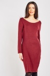 Scoop Neck Jumper Knit Dress
