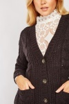 Cable Knit Chunky Cardigan