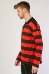 Long Sleeve Striped Polo Top