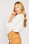 Elasticated Waist Off White Blouse
