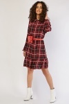 Plaid Smock Dress