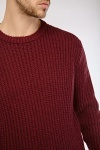 Ribbed Trim Chunky Knit Jumper