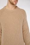 Chunky Herringbone Cotton Jumper