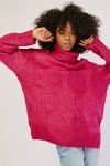 Pattern Knit Roll Neck Jumper