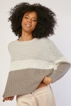 Loose Knit Colour Block Jumper