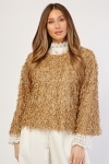 Round Neck Shaggy Jumper