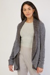 Waterfall Front Woven Cardigan