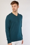 V Neck Cotton Knit Sweater