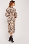 Leopard Print Tulip Wrap Dress