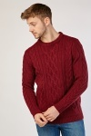 Cable Knit Chunky Mens Jumper