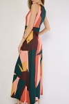 Geometric Pattern Maxi Dress