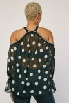 Polka Dot Lurex Sheer Top