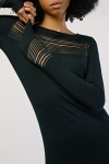 Metallic Stripe Panel Dress