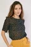 Polka Dot Sheer Top