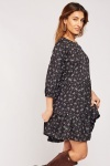 Printed Tiered Smock Dress