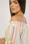 Candy Striped Off Shoulder Top