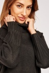 Roll Neck Slouchy Knit Jumper