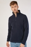 Zip Up Poly-Fleece Pullover