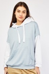 Two Tone Contrast Cotton Hoodie
