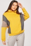 Contrasted Colour Block Hoodie