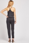 Lurex Waist Panel Jumpsuit