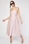 Bandeau Tulle Midi Dress