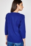 3/4 Sleeve Basic Jersey Knit Top