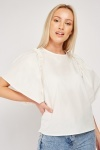 Flared Sleeve Cotton Blouse