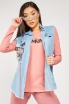 2-In-1 Denim Gilet Top