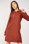 Hooded Glencheck Dress