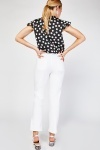 Mid Rise Skinny White Trousers