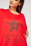 Star Print Oversized T-Shirt