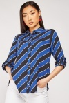Asymmetric Striped Shirt