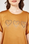 Encrusted Heart Oversized Top