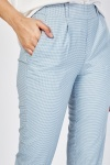 Puppytooth Light Weight Crop Trousers