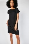 Lurex Detail Slouchy T-Shirt Dress