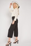 Box Pleated Crop Trousers