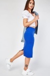 Casual Jersey Tube Skirt