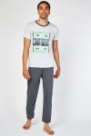 Graphic Front T-Shirt And Bottoms Pyjama Set
