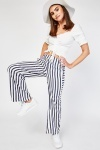 Vertical Stripe Contrast Trousers