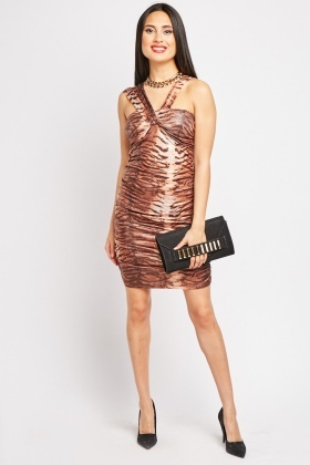 Shimmery Animal Print Party Dress