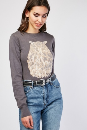 Owl Knitted Sweater