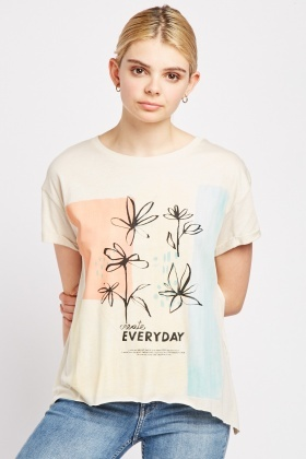 Printed Casual Jersey T-Shirt
