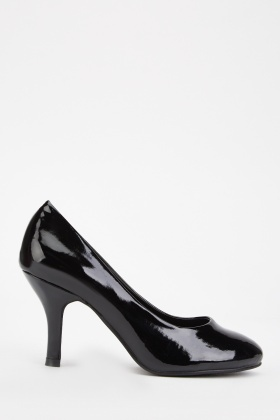 Vinyl Heeled Pumps