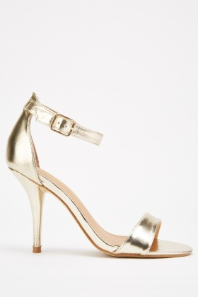 Metallic Heeled Sandals