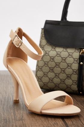 Open Toe Ankle Strap Heels