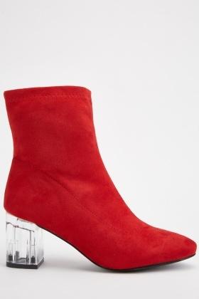 Clear Acrylic Heel Boots
