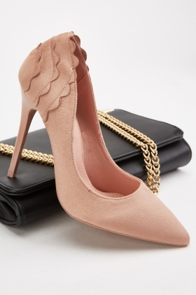 Scallop Trim Court Shoes