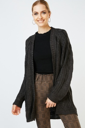 Chunky Cable Knit Sleeve Cardigan £5.00